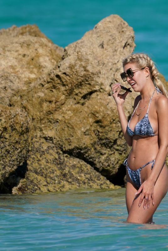 CHEALSE SOPHIA HOWELL in Bikini at a Beach in Miami 01/30/2020
