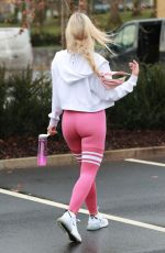 CHRISTINE MCGUINNESS Leaves a Gym in Cheshire 01/17/2020