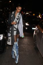 CINDY BRUNA Leaves Jean-Paul Gaultier Show at Paris Fashion Week 01/22/2020
