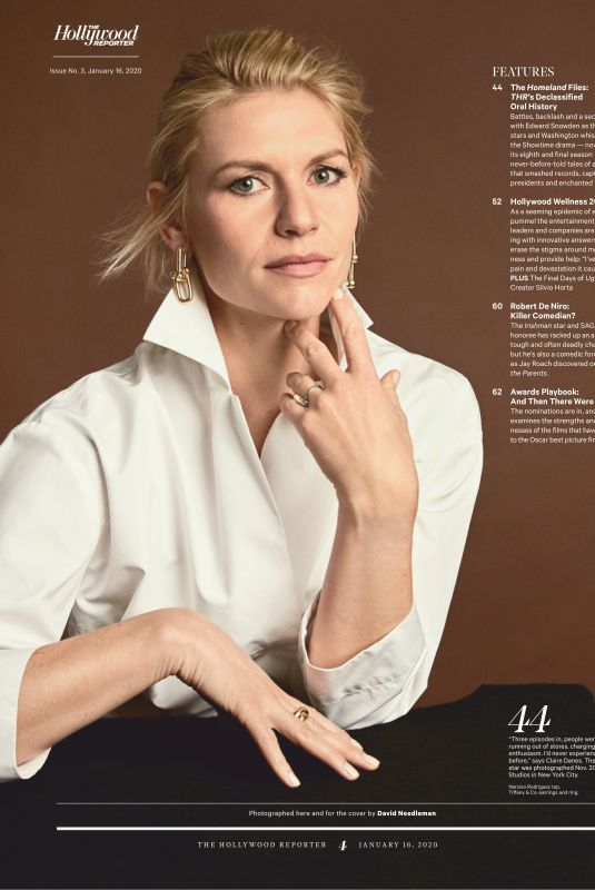 CLAIRE DANES in The Hollywood Reporter, January 2020