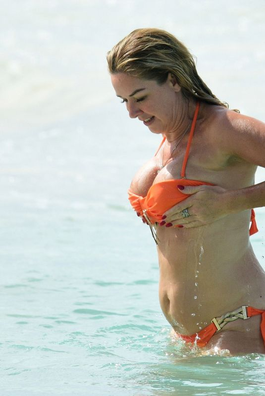 CLAIRE SWEENEY in Bikini at a Beach in Barbados 01/17/2020
