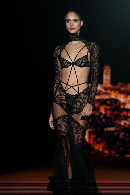 CLAUDIA MARTINI at Andreas Sarda Fashion Show at Fashion Week in Madrid 01/29/2020