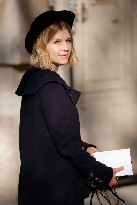 CLEMENCE POESY at Chanel Show at Paris Fashion Week 01/21/2020