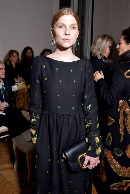 CLEMENCE POESY at Valentino Fashion Show at PWF in Paris 01/22/2020