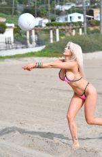 COURTNEY STODDEN in Bikini on the Beach in Santa Monica 01/24/2020