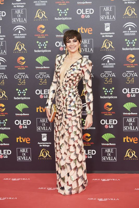 CUCA ESCRIBANO at 34th Goya Cinema Awards 2020 in Madrid 01/25/2020
