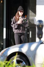 DAKOTA JOHNSON Leaves Yoga Class in Studio City 01/23/2020