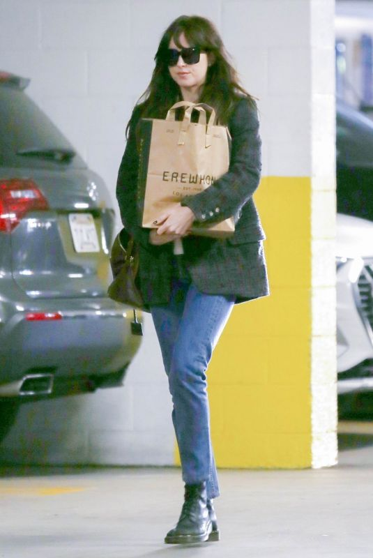DAKOTA JOHNSON Out Shopping in Los Angeles 01/21/2020