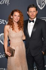 DANNEEL and Jensen ACKLES at Instyle and Warner Bros. Golden Globe Awards Party 01/05/2020