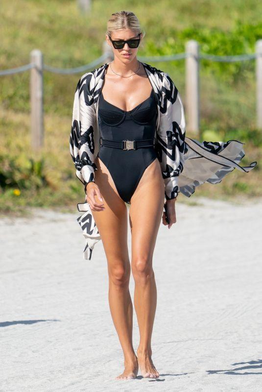 DEVON WINDSOR in Swimsuit at a Beach in Miami 01/04/2020