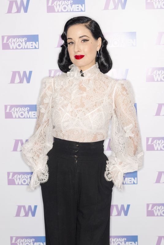 DITA VON TEESE at Loose Women TV Show in London 01/30/2020