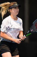 ELINA SVITOLINA Practices at 2020 Australian Open at Melbourne Park 01/19/2020