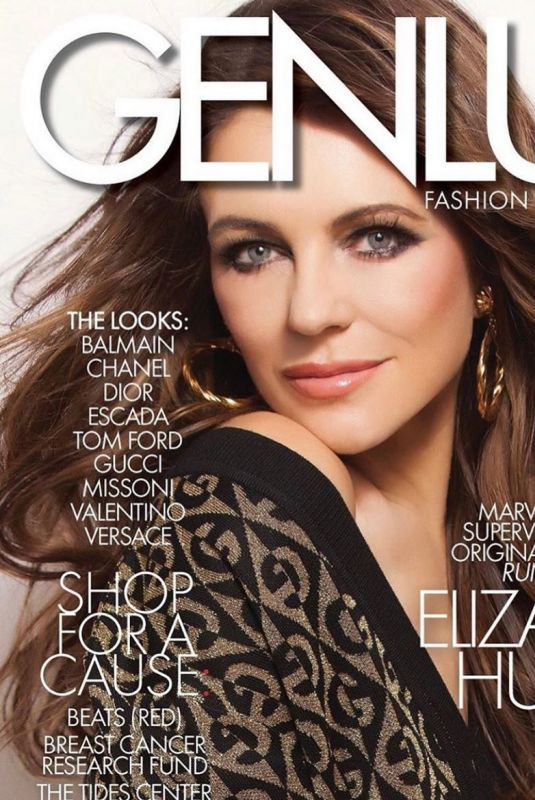 ELIZABETH HURLEY on the Cover of Genlux Magazine, 2020