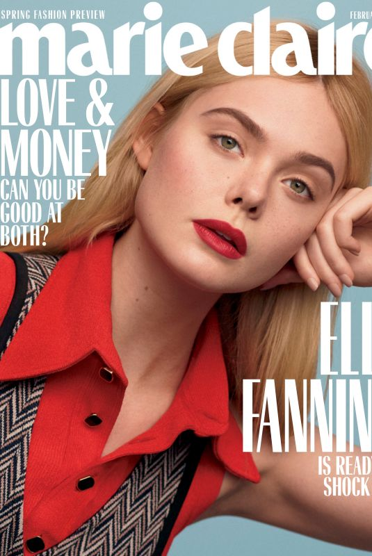 ELLE FANNING in Marie Claire, February 2020