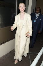 ELLE FANNING Leaves London Critics