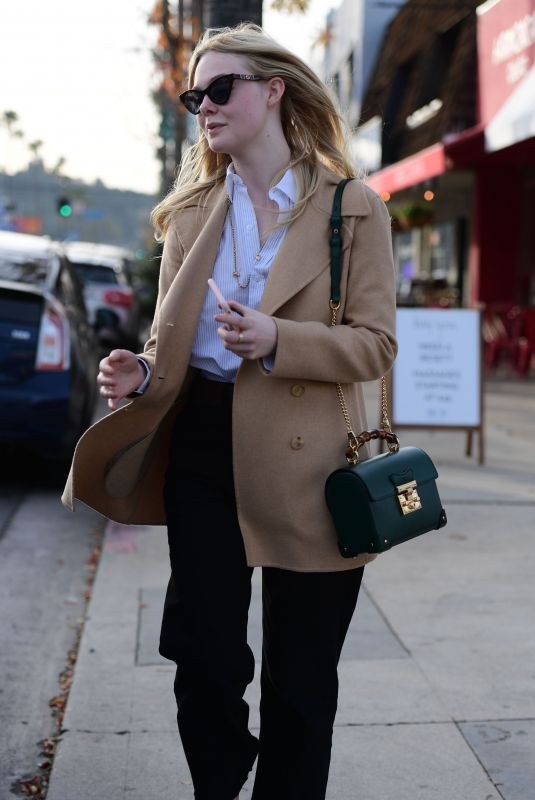 ELLE FANNING Out Shopping in Los Angeles 01/03/2020