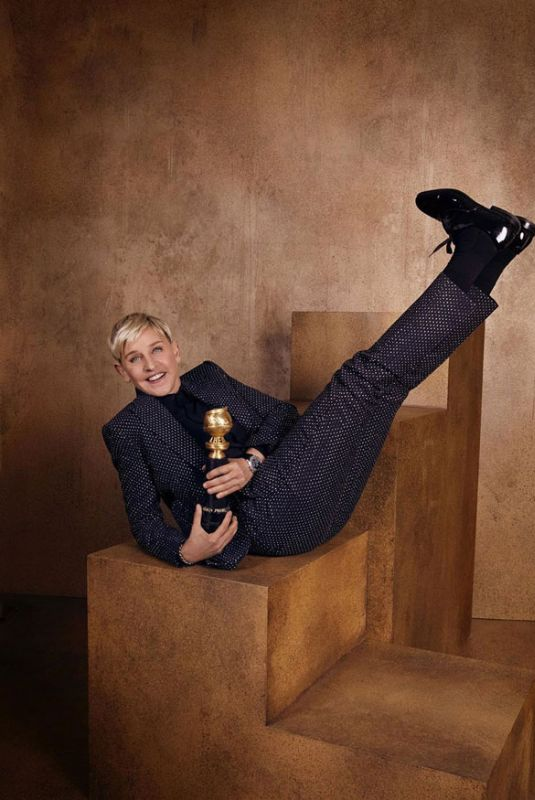 ELLEN DEGENERES – Golden Globes 2020 Official Portrait