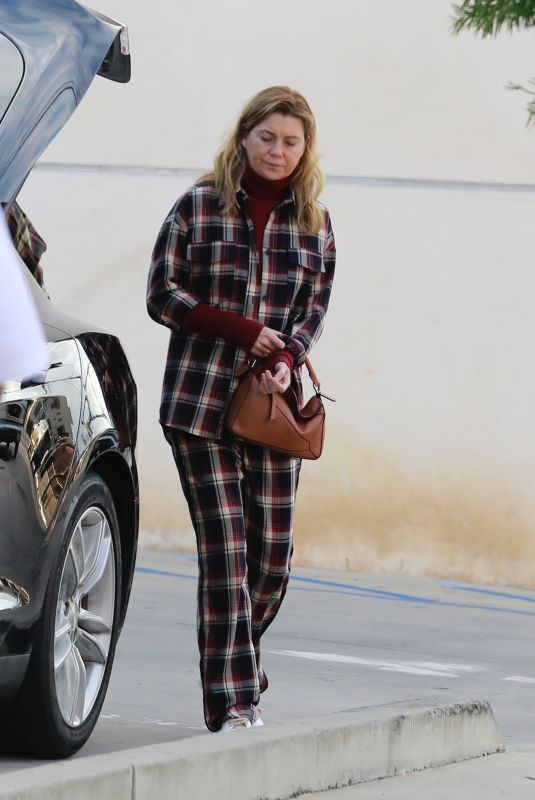 ELLEN POMPEO Out and About in Los Feliz 01/17/2020