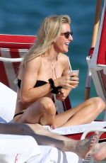 ELLIE GOULDING in a Black Bikini on the Beach in Miami 01/02/2020