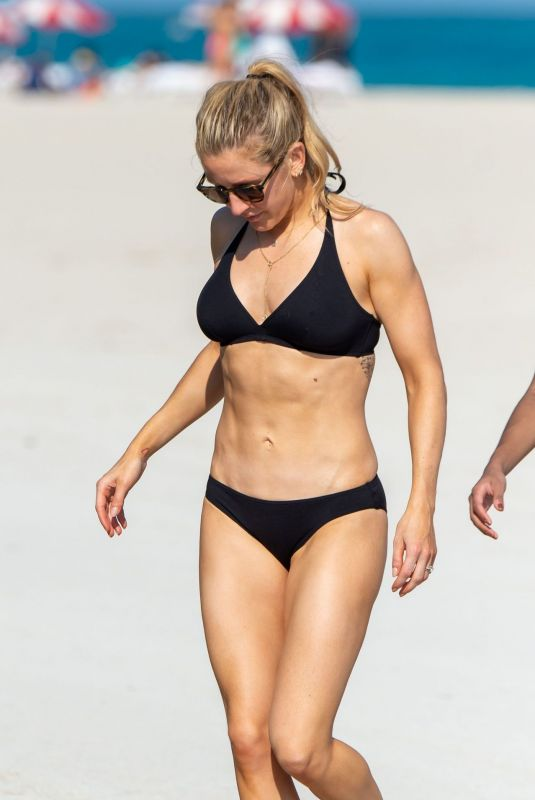 ELLIE GOULDING in Bikini on the Beach in Miami 12/31/2019