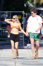ELLIE GOULDING in Bikini Top Out in Miami 01/01/2020