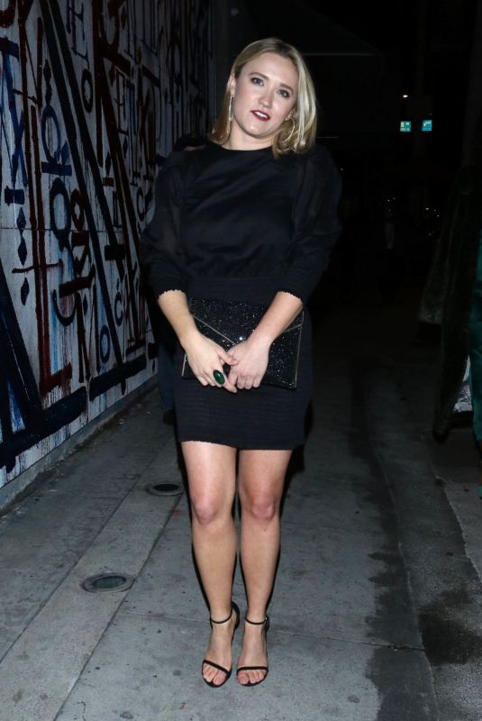 EMILY OSMENT Night Out in Los Angeles 01/05/2020
