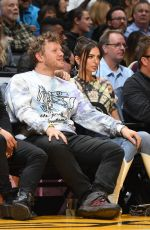EMILY RATAJKOWSKI and Sebastian Bear McClard at Cleveland Cavaliers vs LA Lakers Game in Los Angeles 01/13/2020