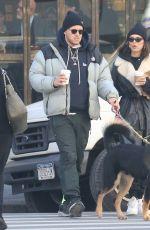 EMILY RATAJKOWSKI and Sebastian Bear McClard Out with Their Dog in New York 01/21/2020
