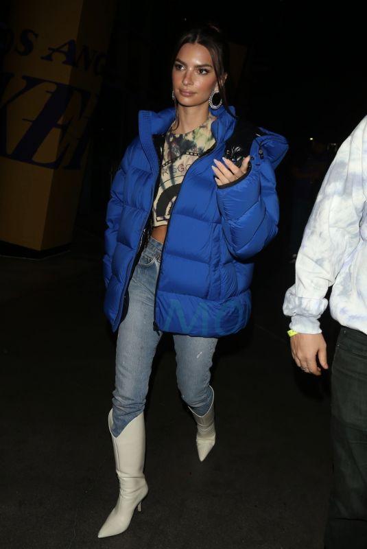 EMILY RATAJKOWSKI Leaves Staples Center in Los Angeles 01/13/2020