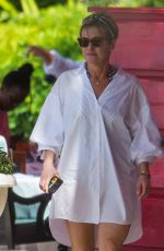 EMMA FORBES Out on the Beach in Barbados 12/24/2019