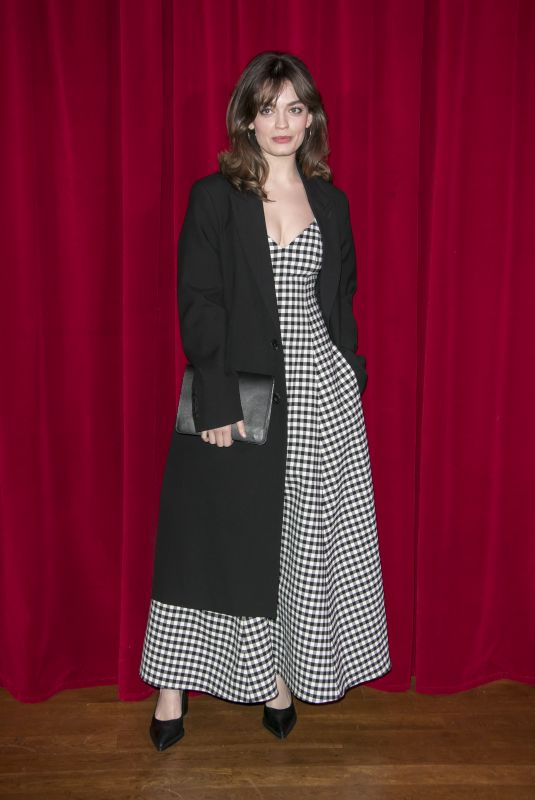 EMMA MACKEY at Ami Alexandre Mattiussi Fashion Show in Paris 01/14/2020