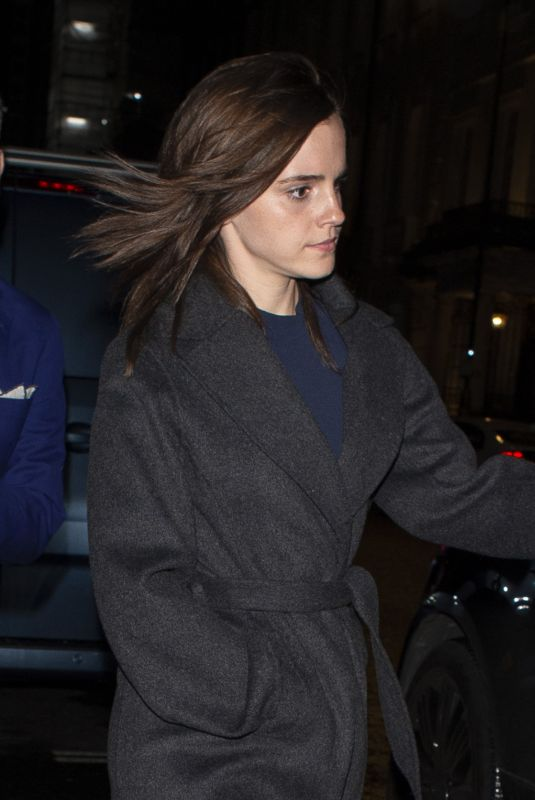 EMMA WATSON Leaves C Restaurant in London 01/30/2020