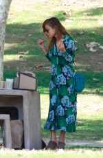 EVA MENDES Out and About in Los Angeles 01/04/2020