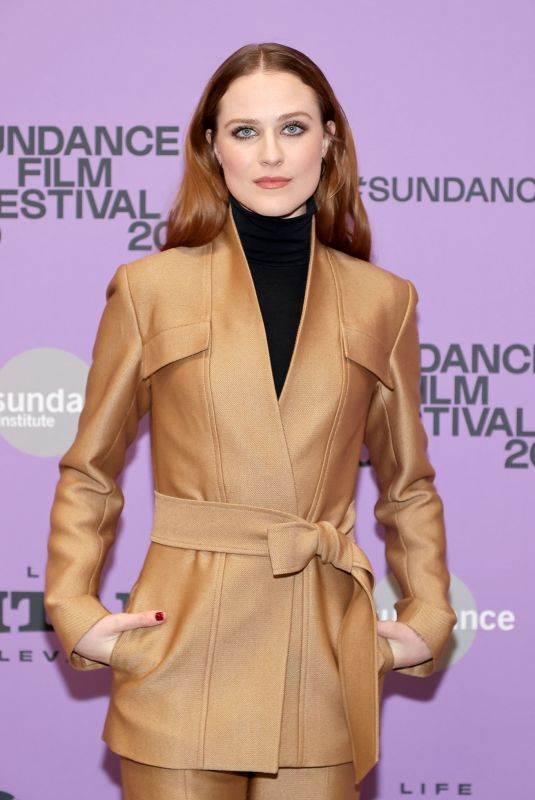 EVAN RACHEL WOOD at Kajillionaire Premiere at Sundance Film Festival 01/25/2020