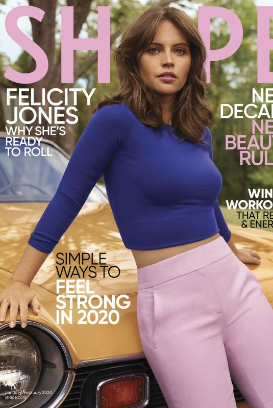FELICITY JONES in Shape Magazine, January/February 2020