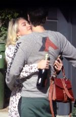 FLORENCE PUGH and Zach Braff Out Kissing in London 01/13/2020