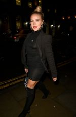 GABBY ALLEN Night Out in Manchester 01/17/2020