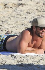 GABRIELLA BROOKS and Liam Hemsworth at a Beach in Byron Bay 01/16/2020