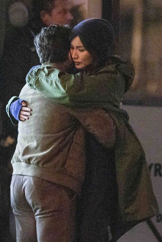 GEMMA CHAN and Kit Harington on the Set of Eternals in London 01/18/2020