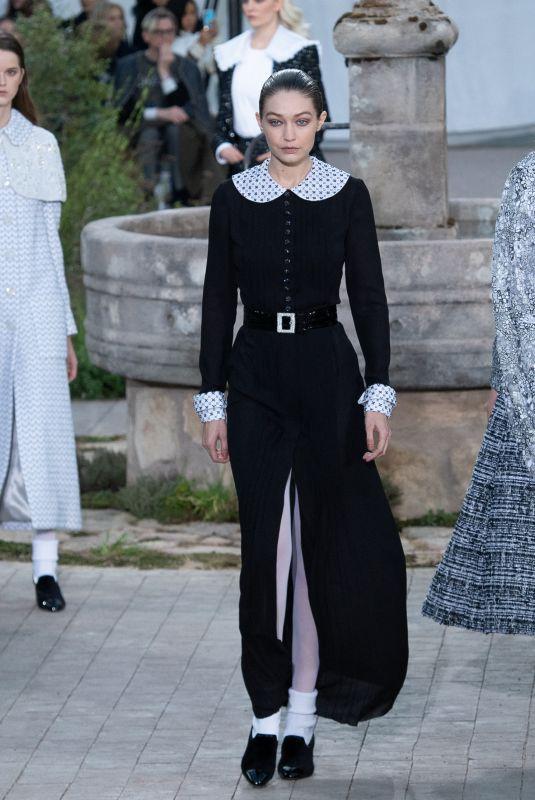 GIGI HADID at Chanel Runway Show at Paris Fashion Week 01/21/2020