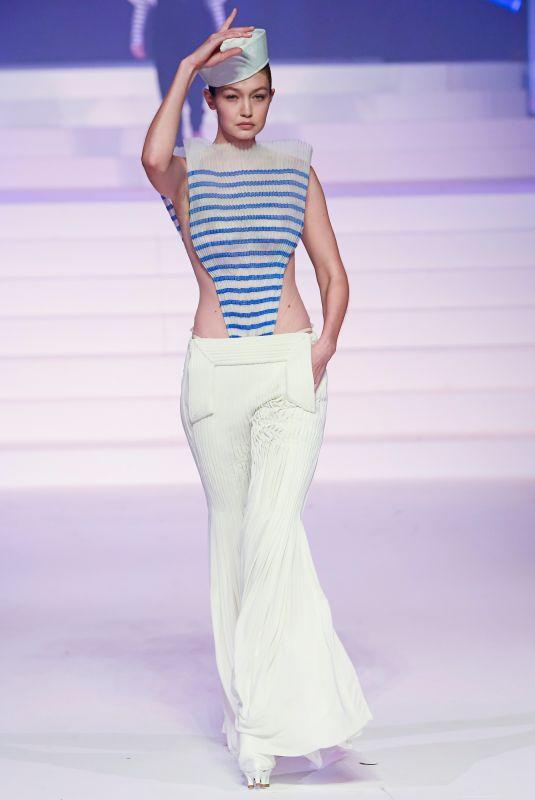 GIGI HADID at Jean-Paul Gaultier Haute Couture Show in Paris 01/22/2020