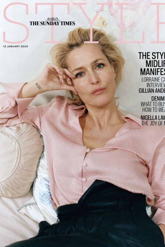 GILLIAN ANDERSON in The Sunday Time Style Magazine, January 2020
