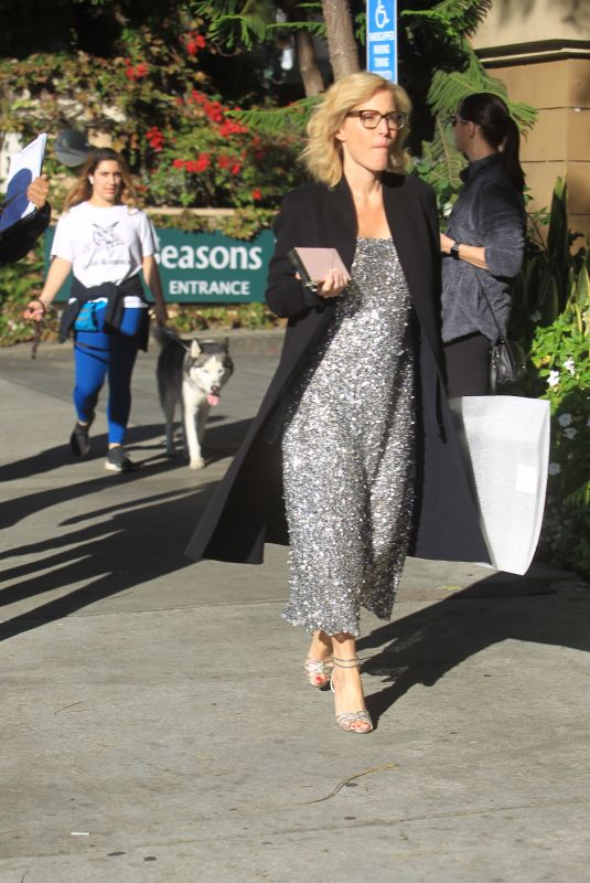 GILLIAN ANDERSON Leaves Four Seasons Hotel in Beverly Hills 01/03/2020