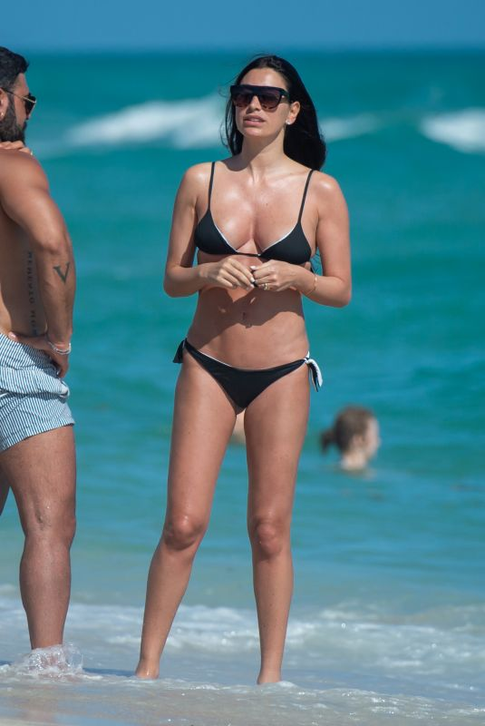 GIORGIA GABRIELE in Bikini at a Beach in Miami 01/03/2020