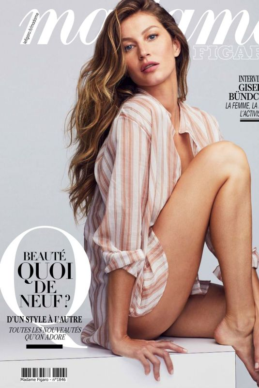 GISELE BUNDCHEN in Madame Figaro Magazine, January 2020