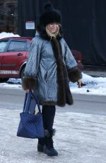 GOLDIE HAWN Out and About in Aspen 12/31/2019