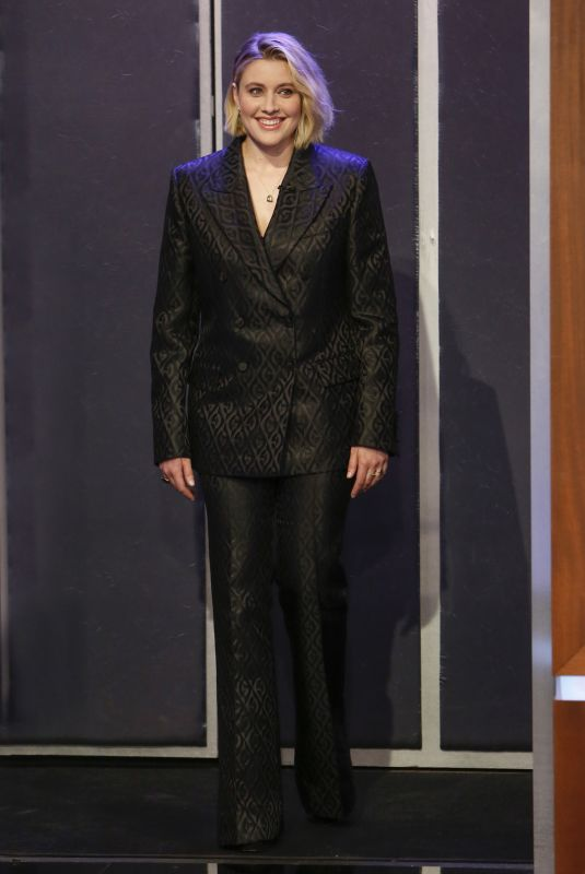 GRETA GERWIG at Jimmy Kimmel Live 01/08/2020