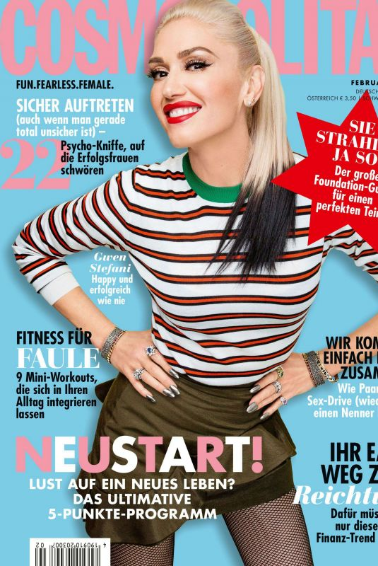 GWEN STEFANI in Cosmopolitan Magazine, Germany February 2020
