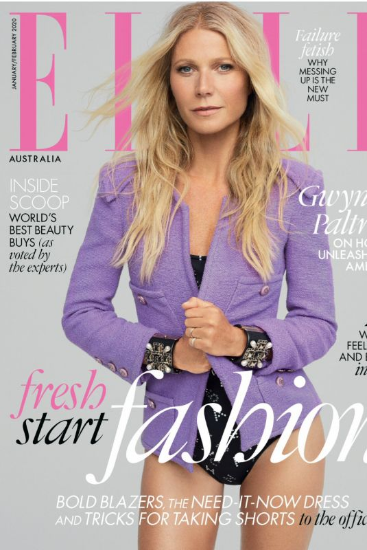 GWYNETH PALTROW in Elle Magazine, Australia January 2020