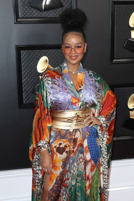 H.E.R. at 62nd Annual Grammy Awards in Los Angeles 01/26/2020